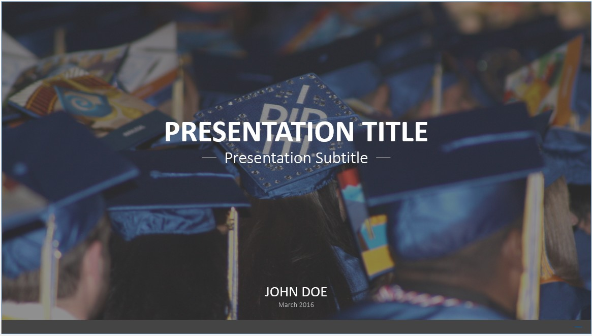 Free graduation powerpoint template 9336 sagefox powerpoint by james sager toneelgroepblik