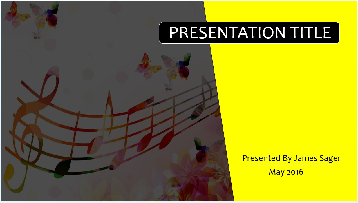 Free music notes powerpoint template 9371 sagefox powerpoint by james sager toneelgroepblik Images
