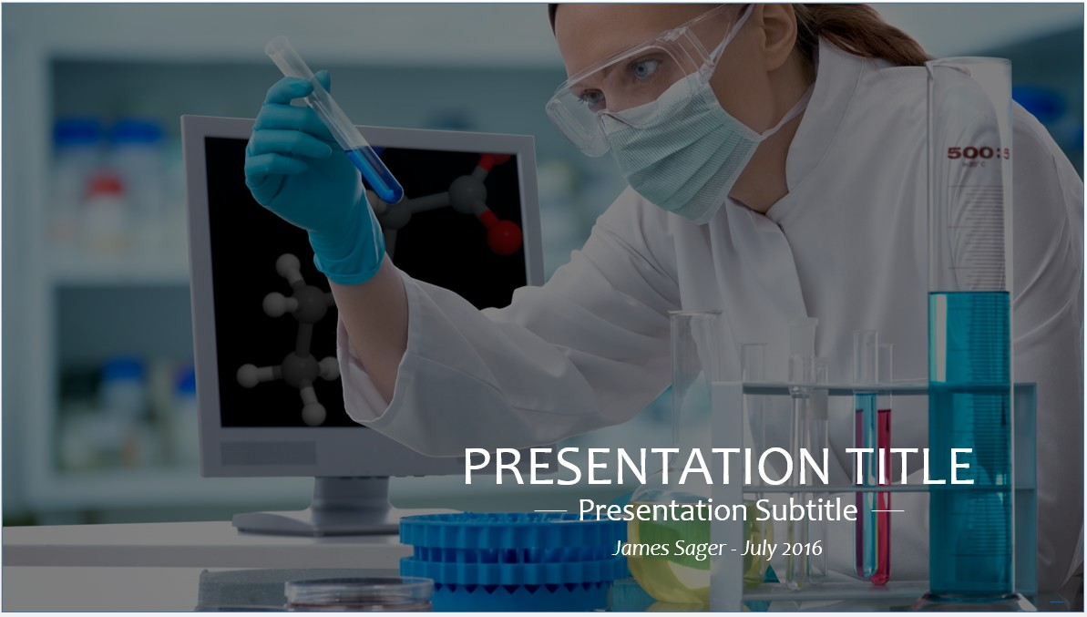 Free scientist in lab powerpoint template 9286 sagefox powerpoint by james sager toneelgroepblik Image collections