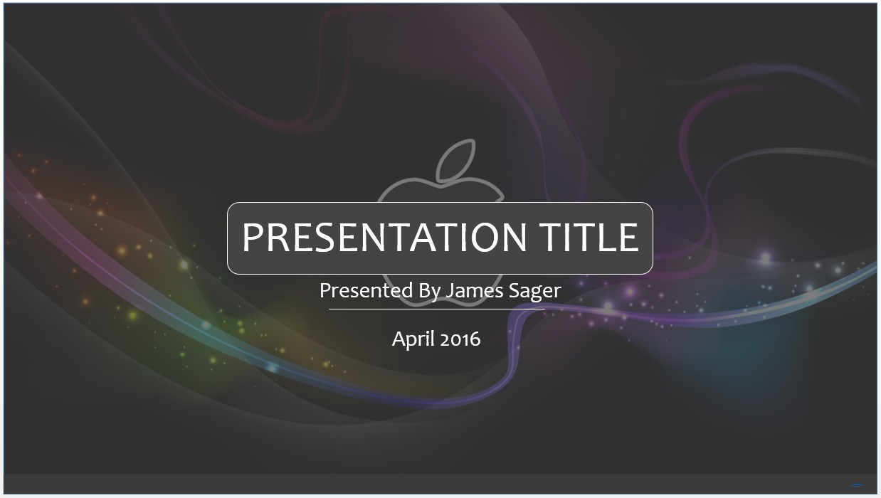Free 3d apple powerpoint template 8391 sagefox powerpoint templates by james sager toneelgroepblik Image collections