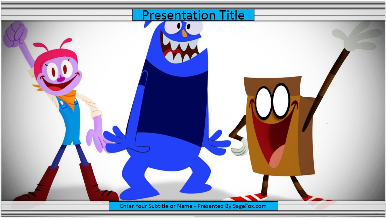 Free cartoon powerpoint template 7120 sagefox powerpoint templates by james sager toneelgroepblik Gallery