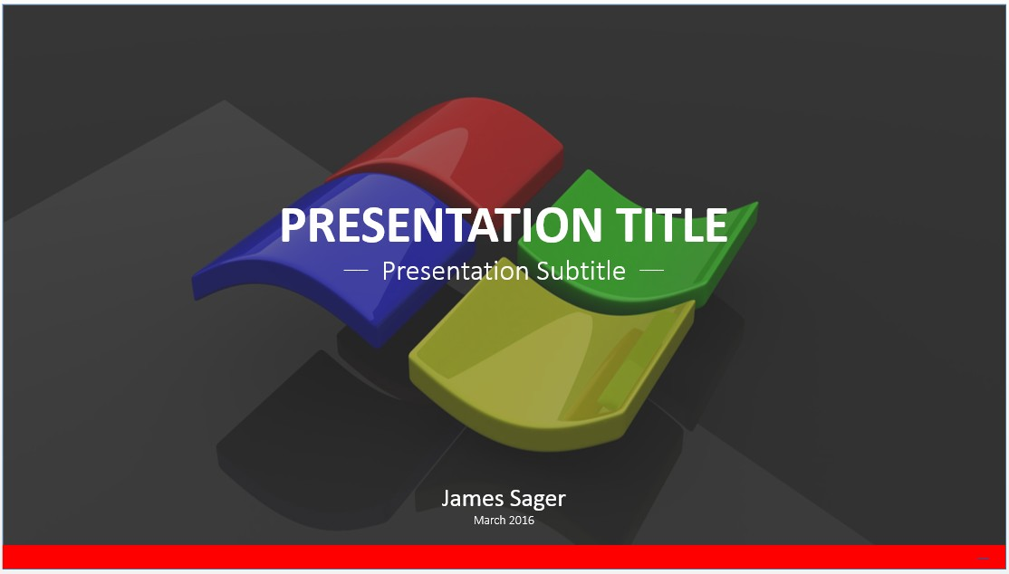 Free windows logo powerpoint template 7356 sagefox powerpoint by james sager toneelgroepblik Image collections