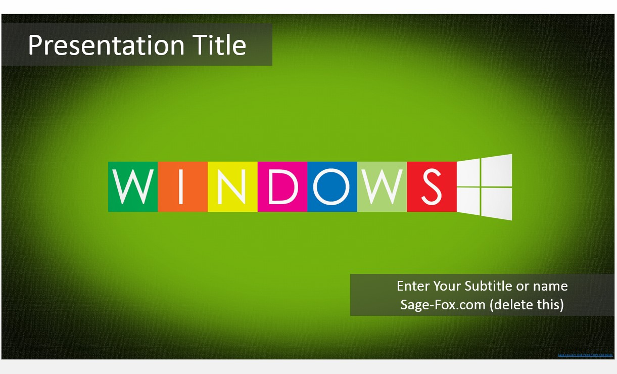 Free green windows powerpoint template 7366 sagefox powerpoint by james sager toneelgroepblik Choice Image
