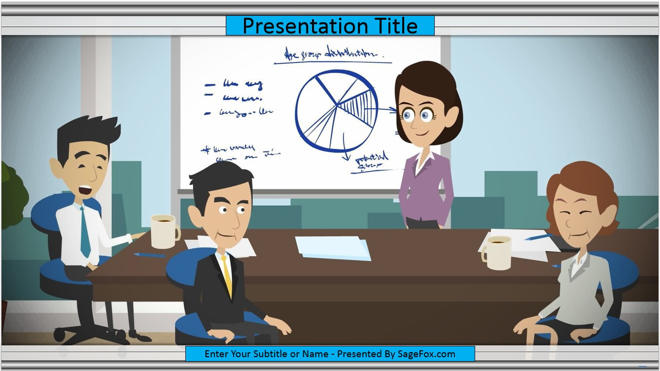 Free business cartoon powerpoint template 7055 sagefox powerpoint by james sager toneelgroepblik Gallery