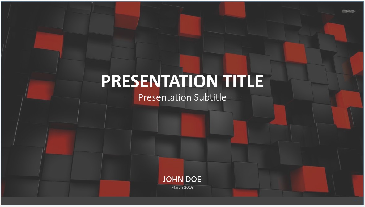 Free black and red cubes powerpoint template 7426 sagefox by james sager toneelgroepblik Choice Image