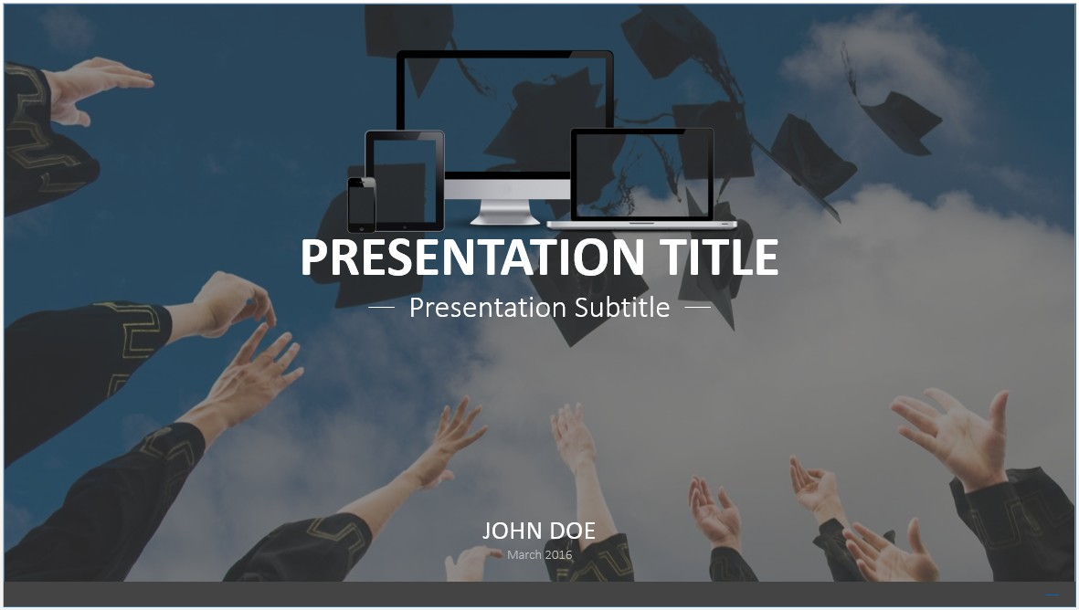 Free graduation powerpoint template 7531 sagefox powerpoint by james sager toneelgroepblik Choice Image