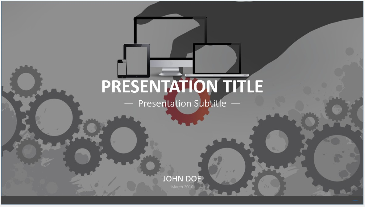 Free gears powerpoint template 7536 sagefox powerpoint templates by james sager toneelgroepblik Choice Image