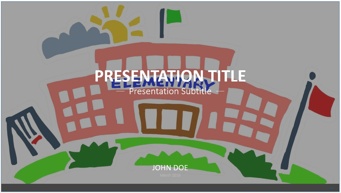 Free cartoon school powerpoint template 7556 sagefox powerpoint by james sager alramifo Image collections