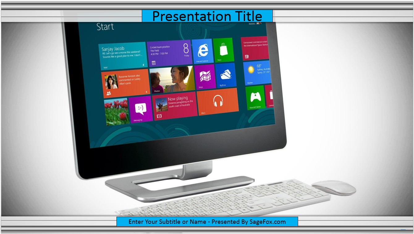 Free desktop computer powerpoint template 7070 sagefox by james sager alramifo Choice Image