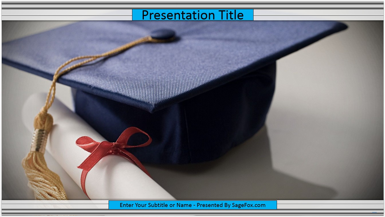 Free graduation cap powerpoint template 7075 sagefox powerpoint by james sager toneelgroepblik Choice Image
