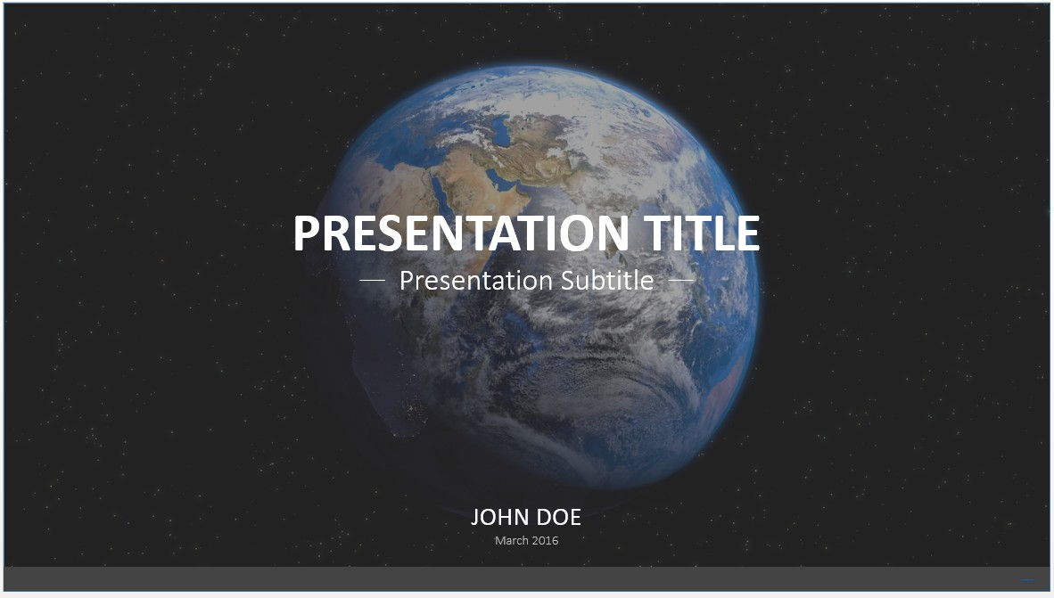 Free earth from space powerpoint template 7606 sagefox powerpoint by james sager toneelgroepblik Images