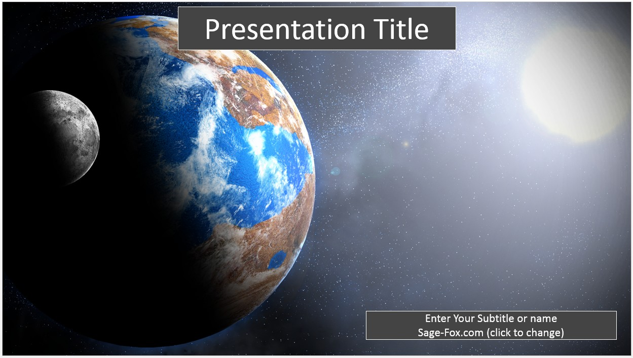 Free earth and moon powerpoint template 8266 sagefox powerpoint by james sager toneelgroepblik Images