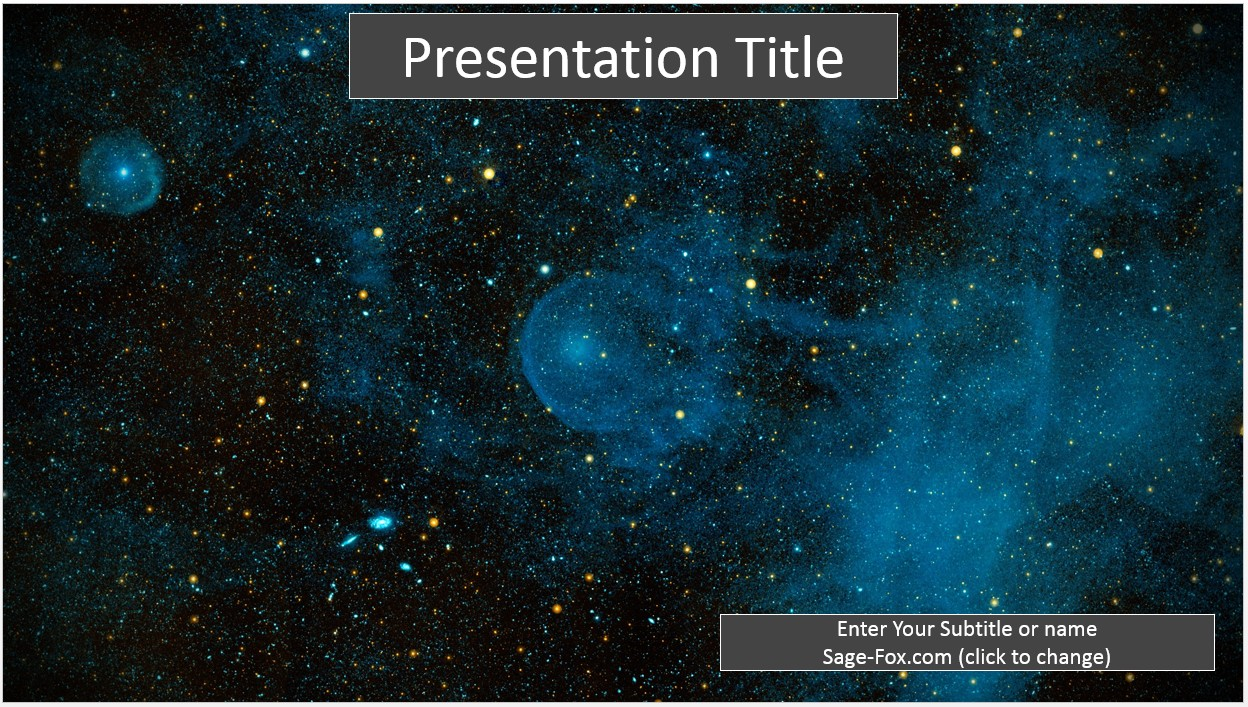 Space themed powerpoint template free idealstalist space themed powerpoint template free toneelgroepblik Gallery