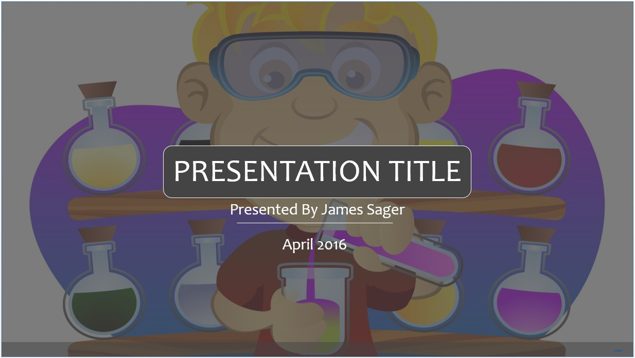Free science cartoon powerpoint template 8381 sagefox powerpoint by james sager toneelgroepblik Gallery