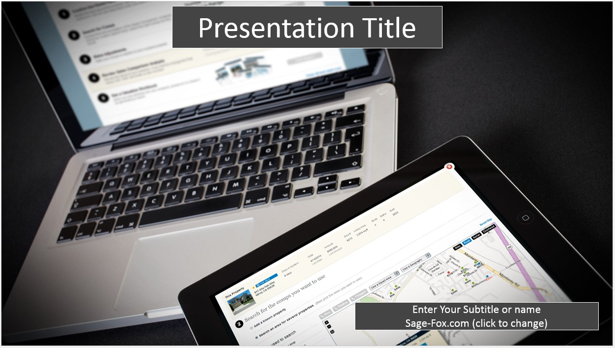 Free laptop and tablet powerpoint template 8256 sagefox free by james sager toneelgroepblik Choice Image