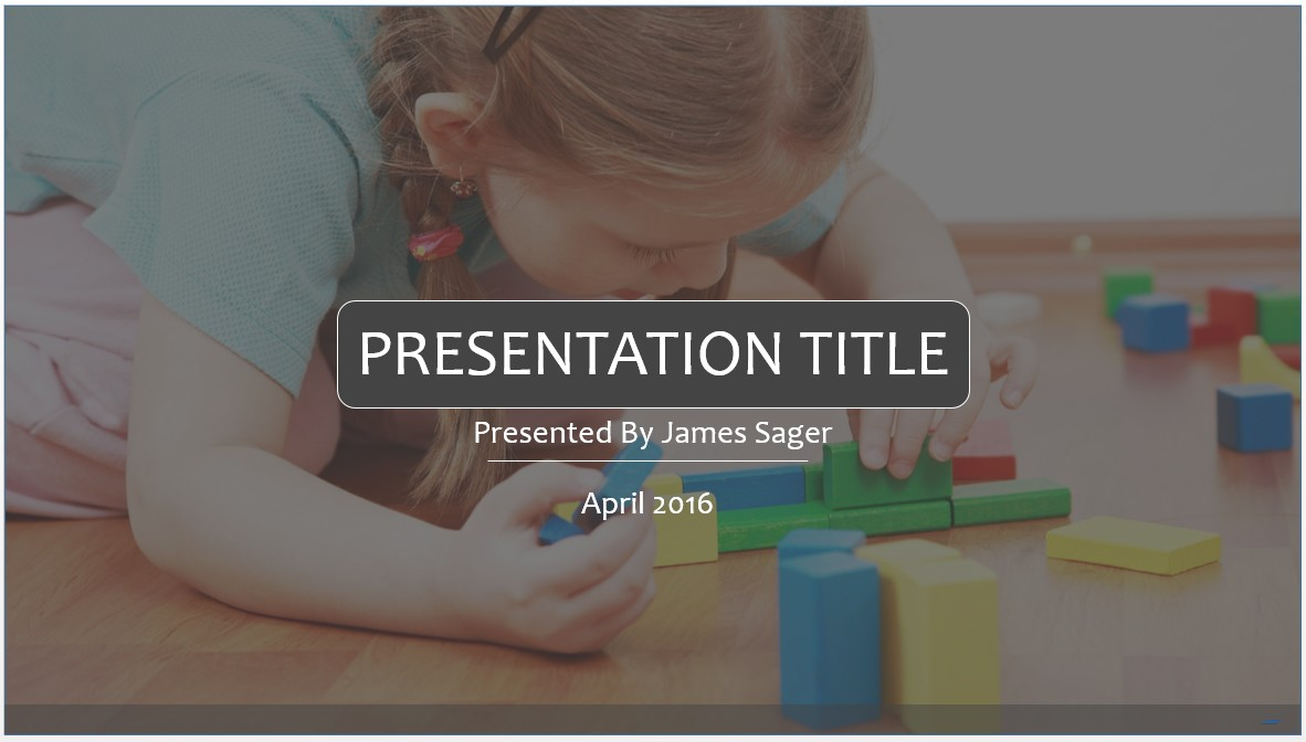 Free early learning powerpoint template 7854 sagefox powerpoint by james sager toneelgroepblik Image collections