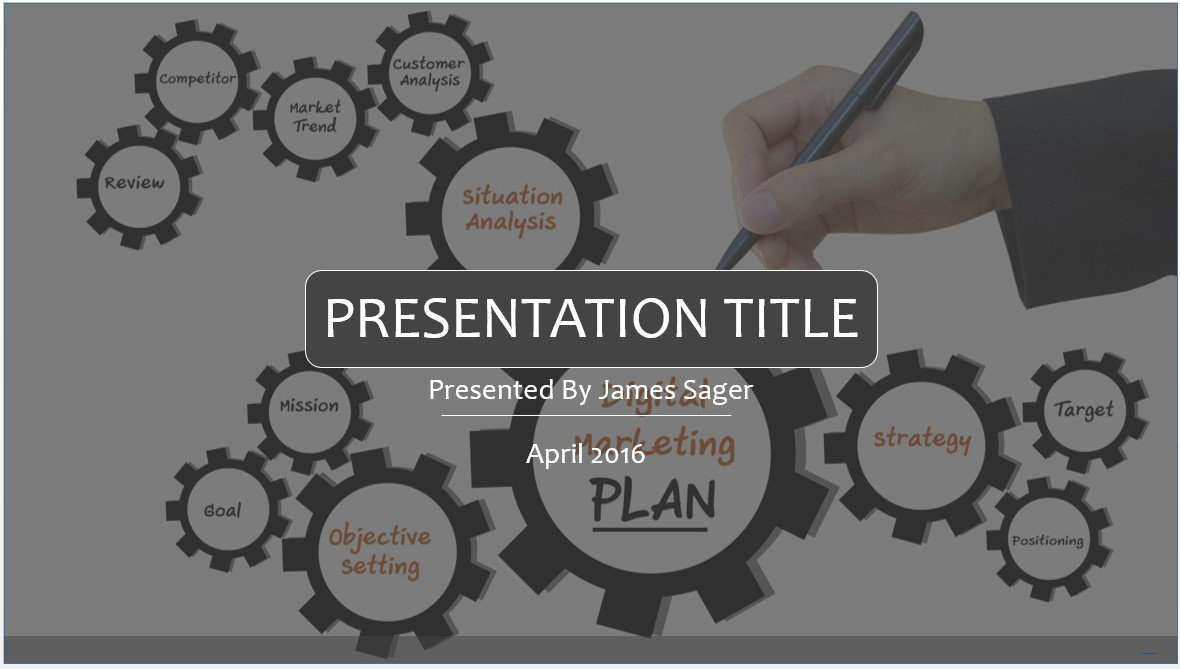 Free Digital Marketing PowerPoint Template #7889 | SageFox ...