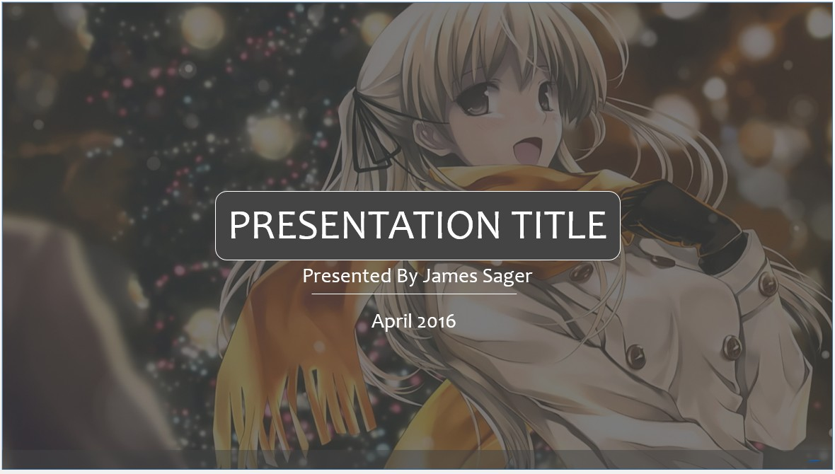 Free anime powerpoint template 7954 sagefox powerpoint templates by james sager toneelgroepblik Choice Image