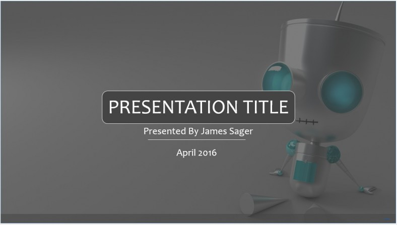 Free robot powerpoint template 7964 sagefox powerpoint templates robot powerpoint template toneelgroepblik Images