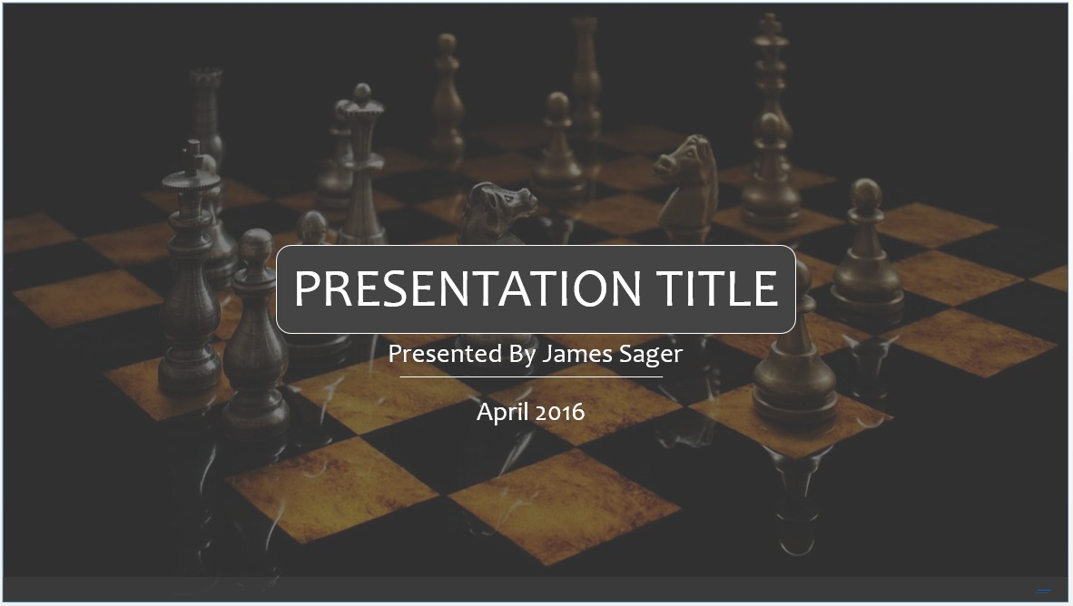 Free Chess PowerPoint Template #7974 | SageFox PowerPoint Templates.