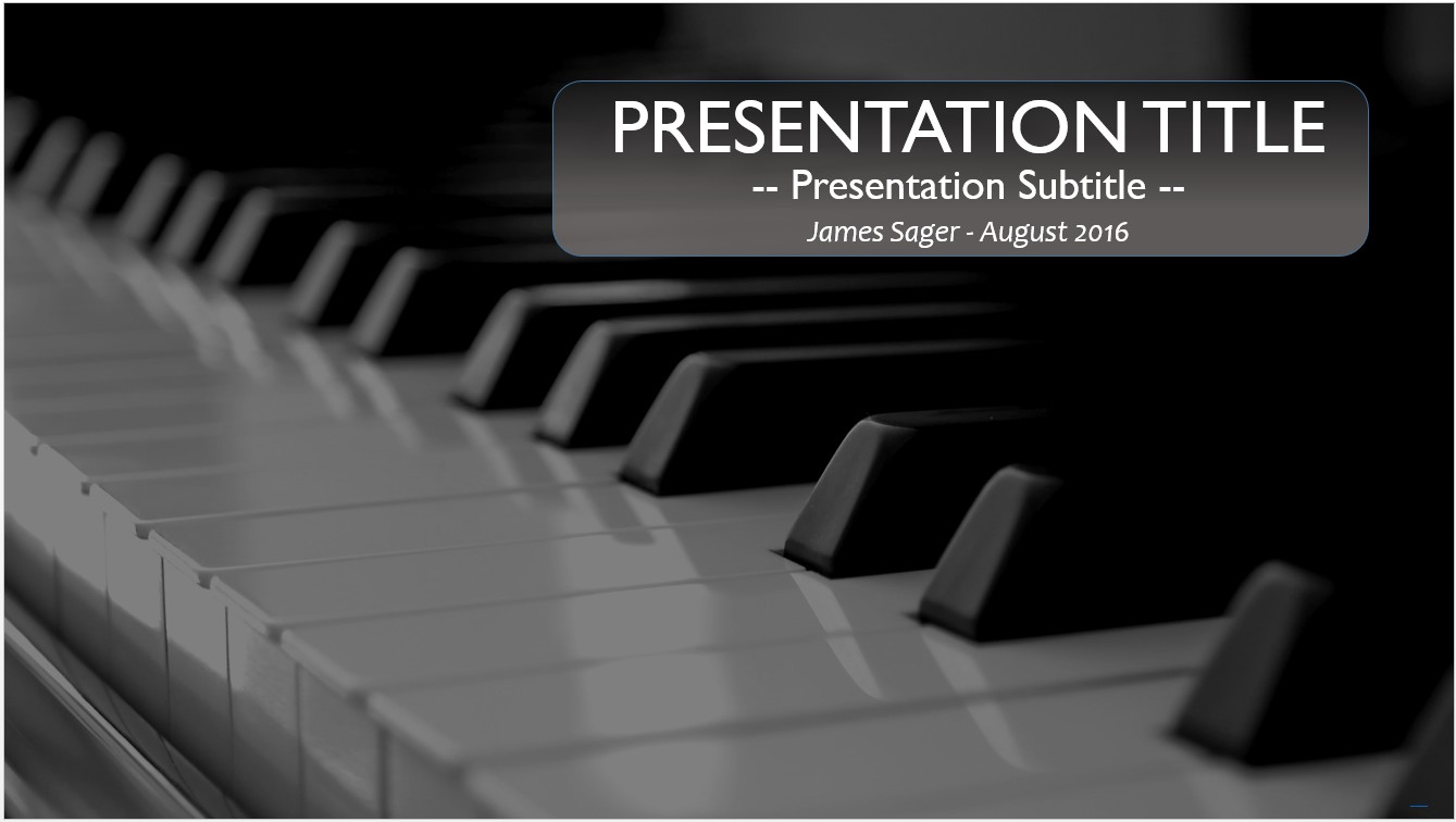 Free Piano PowerPoint Template #9842 | SageFox Free PowerPoint ...