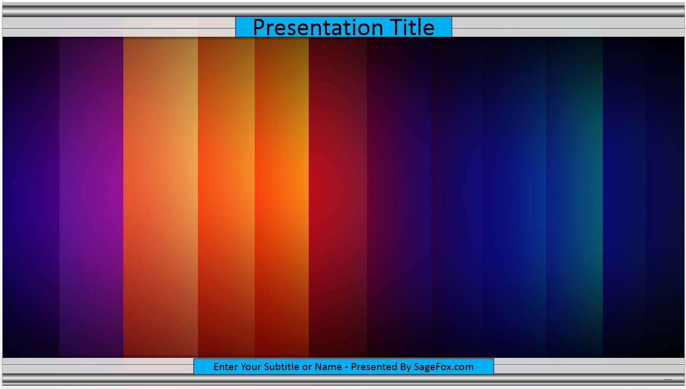 Free Colorful PowerPoint Template #7200 | SageFox PowerPoint Templates.