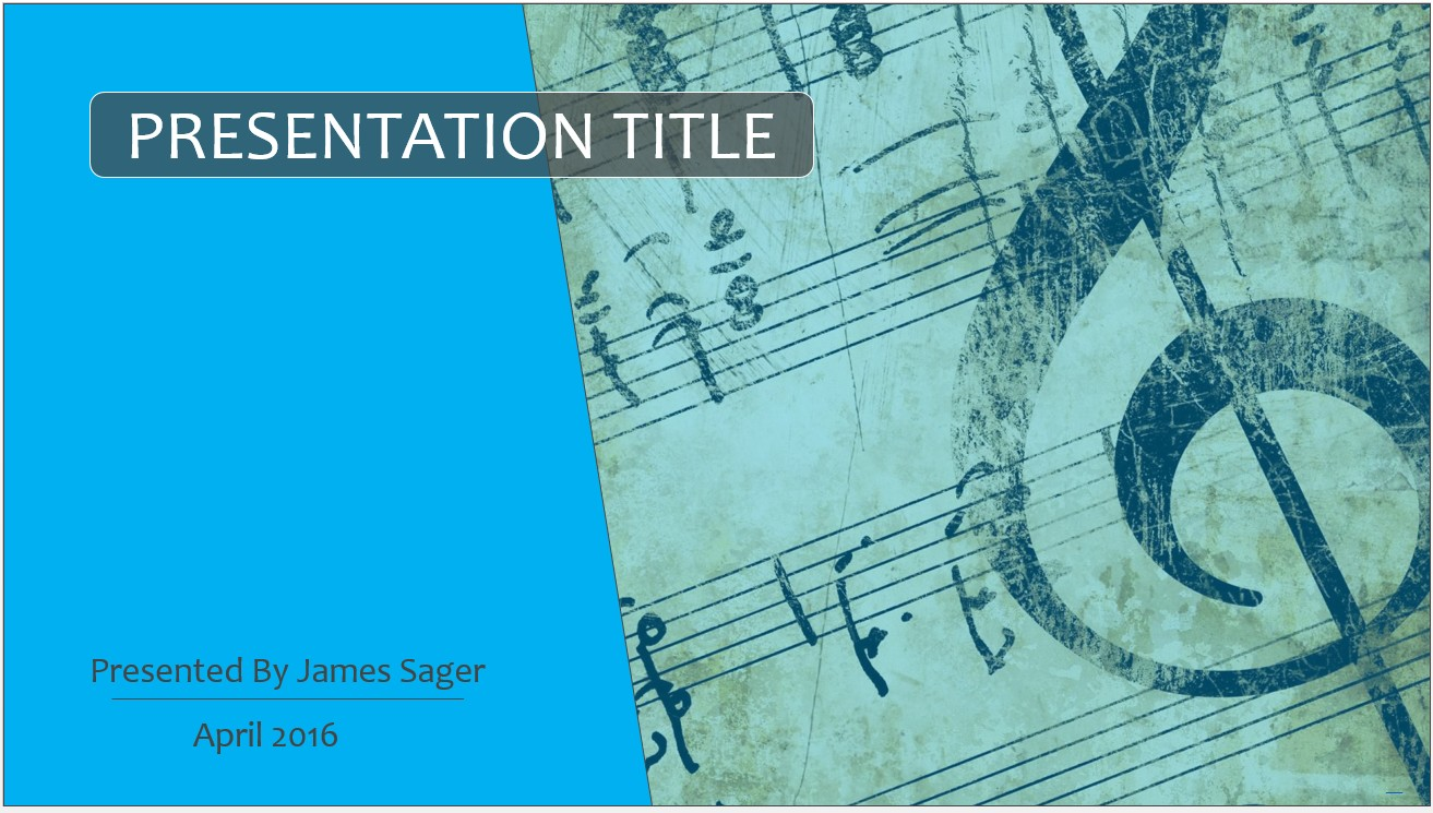 Free music notes powerpoint template 8099 sagefox powerpoint by james sager toneelgroepblik Images