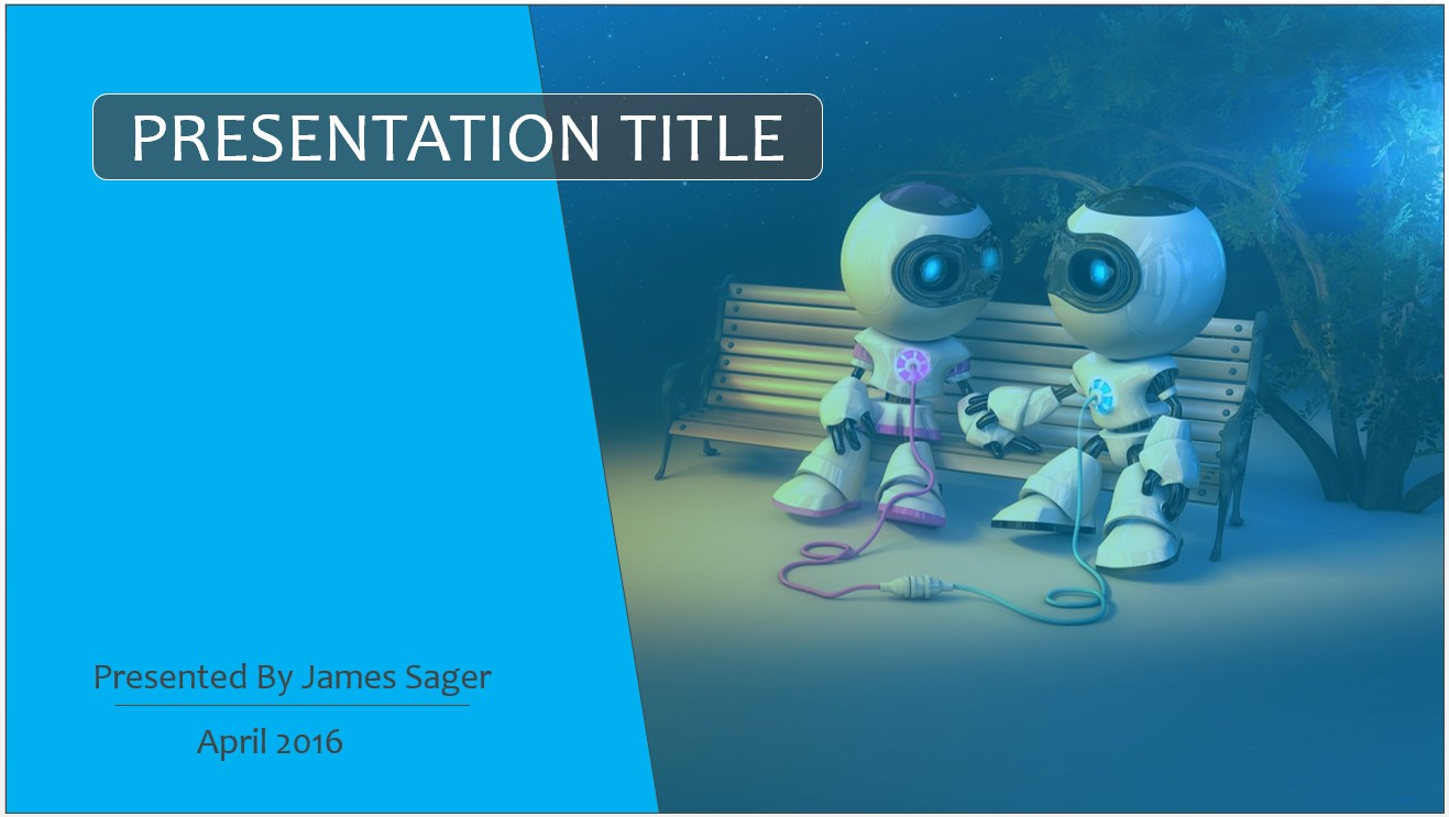 Free cartoon robots powerpoint template 8064 sagefox powerpoint by james sager toneelgroepblik Images