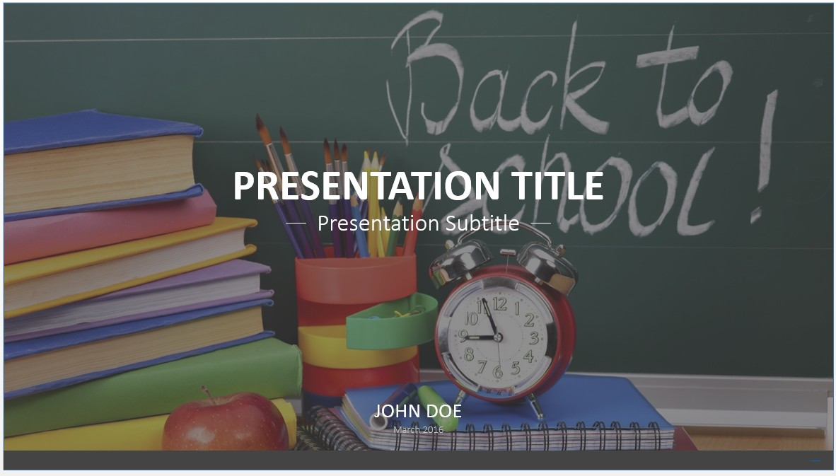 Free Back to School PowerPoint Template #7733 | SageFox PowerPoint ...