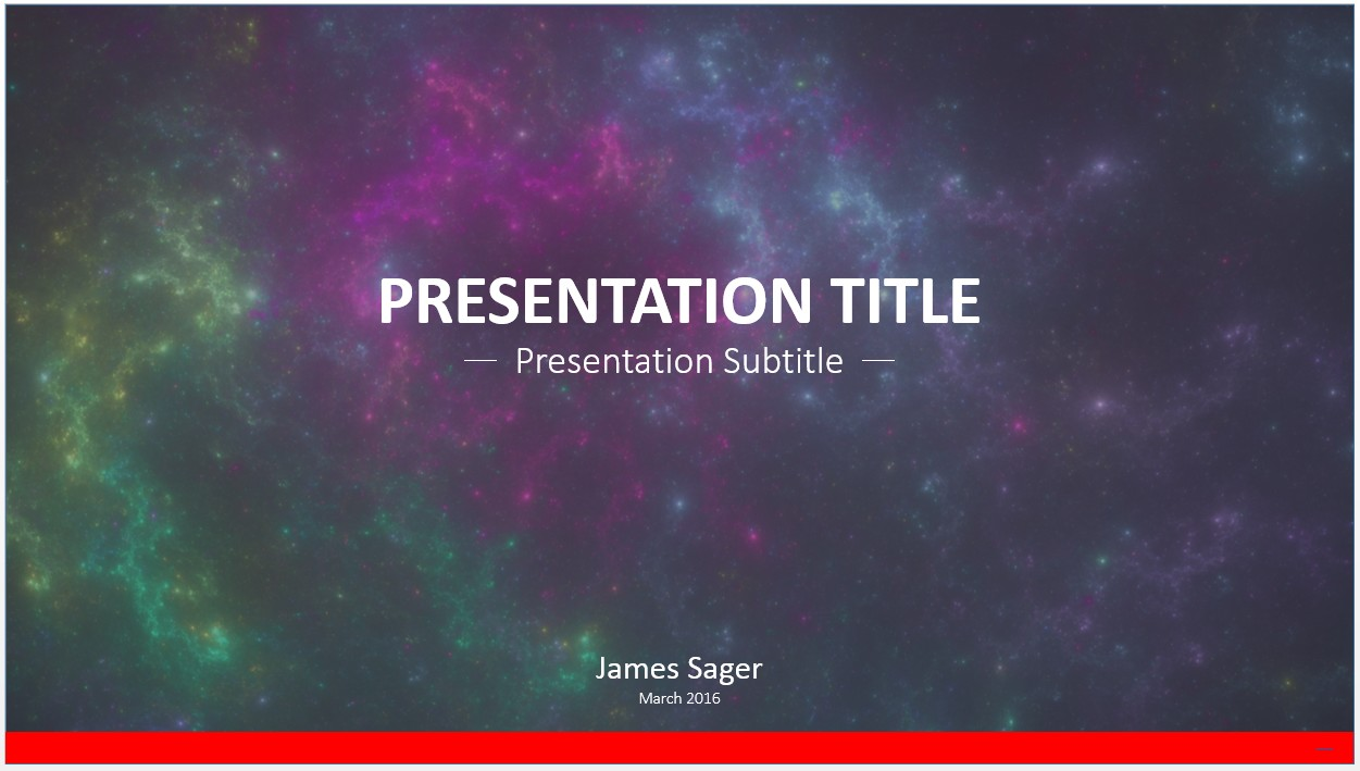 Space Themed Powerpoint Template Free Orgsan Celikdemirsan Com