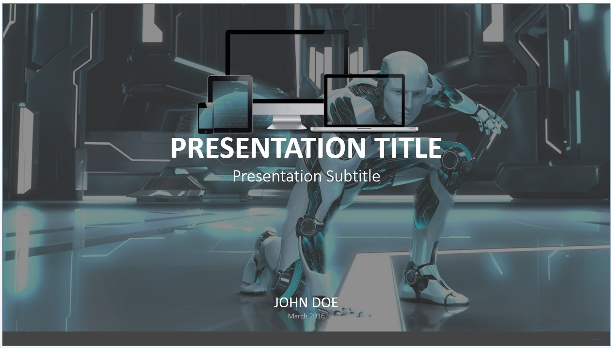Free robot powerpoint template 7657 sagefox powerpoint templates by james sager toneelgroepblik Gallery