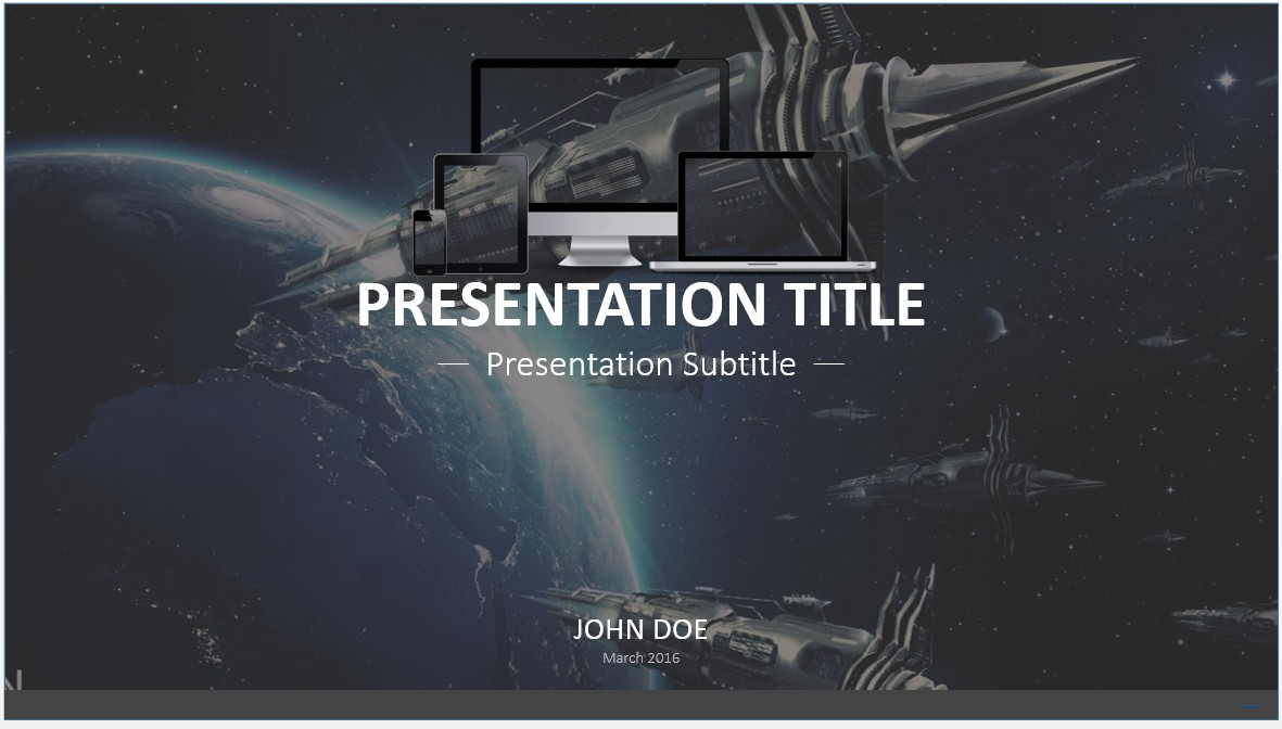 Free scifi powerpoint template 7667 sagefox powerpoint templates by james sager toneelgroepblik Image collections