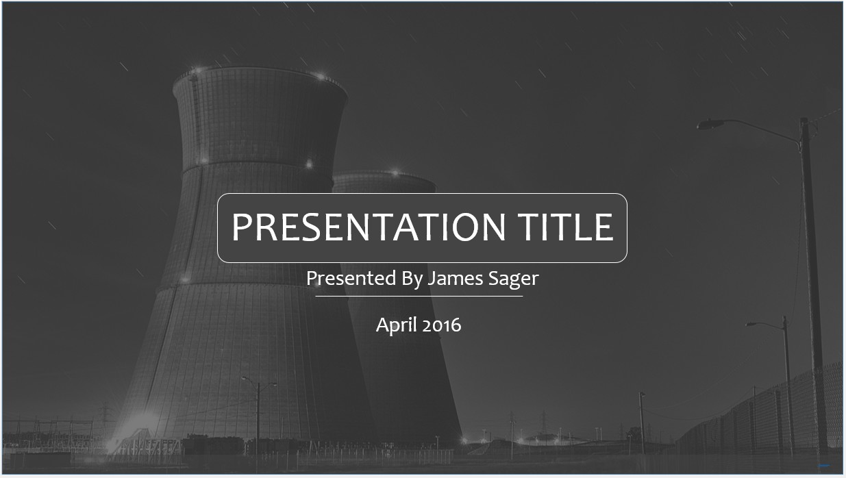 Free Nuclear Power Powerpoint Template 9156 Sagefox