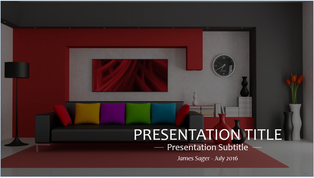 Free interior design powerpoint template 9090 sagefox free by james sager toneelgroepblik Image collections