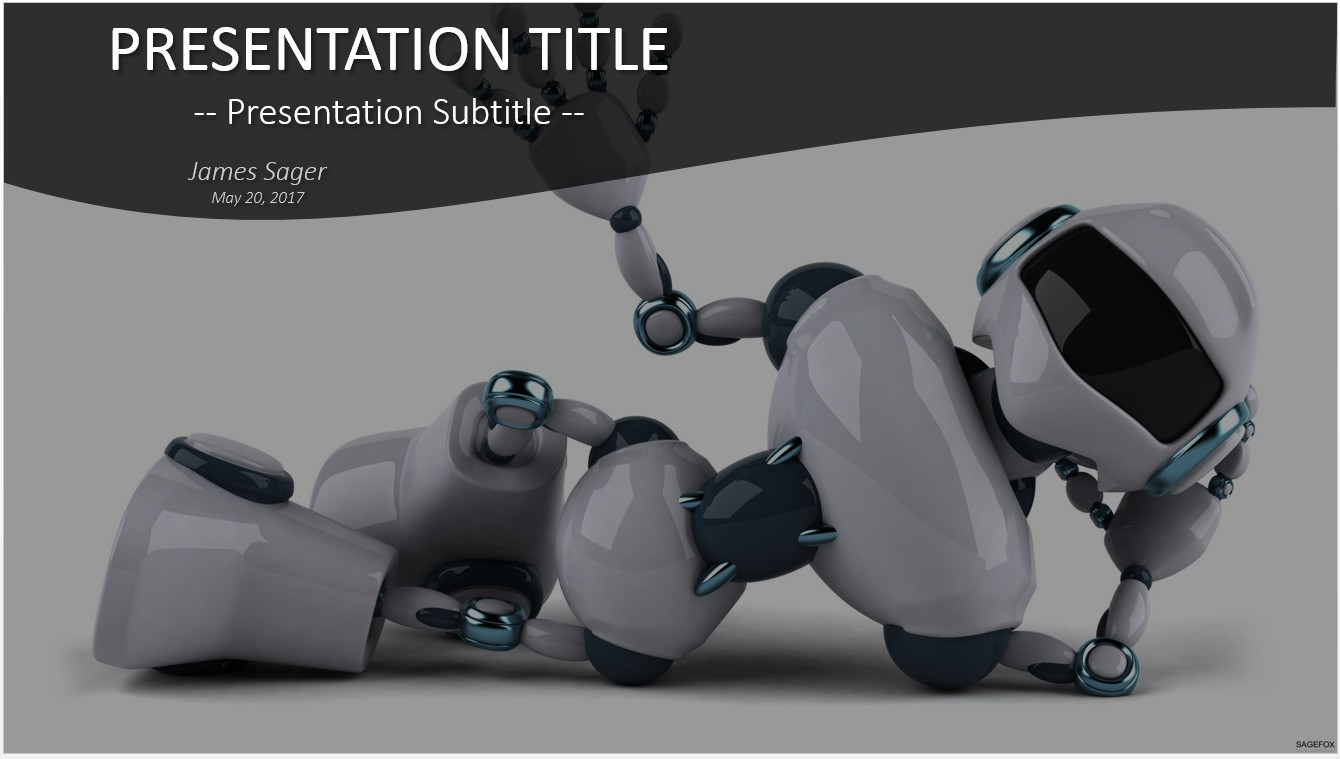 Free robot powerpoint 18389 sagefox powerpoint templates by james sager toneelgroepblik Images