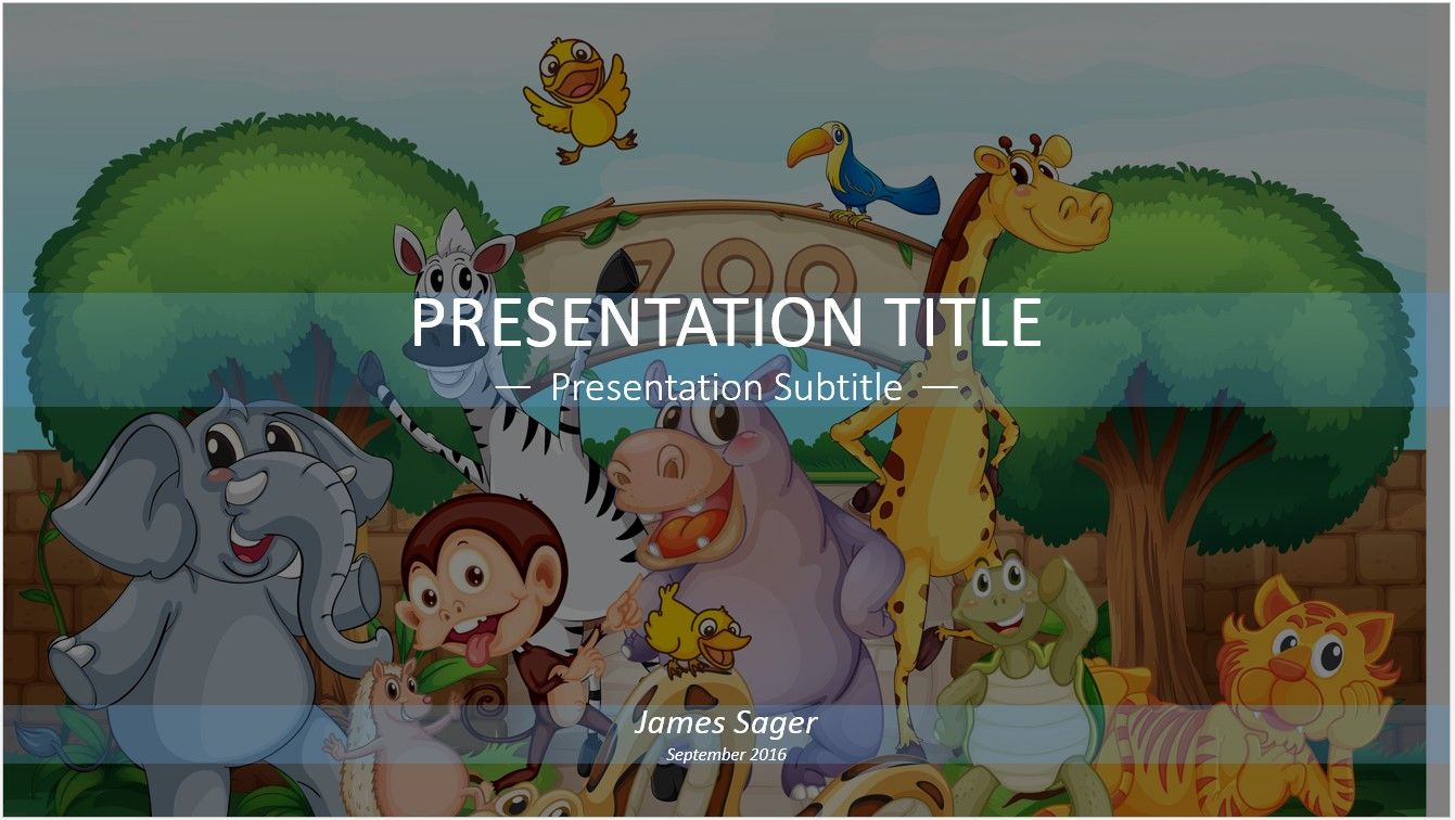 Free zoo cartoon powerpoint 19781 sagefox powerpoint templates by james sager toneelgroepblik Gallery
