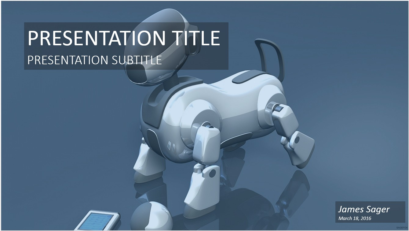 Free robot dog powerpoint 20790 sagefox powerpoint templates by james sager toneelgroepblik Images