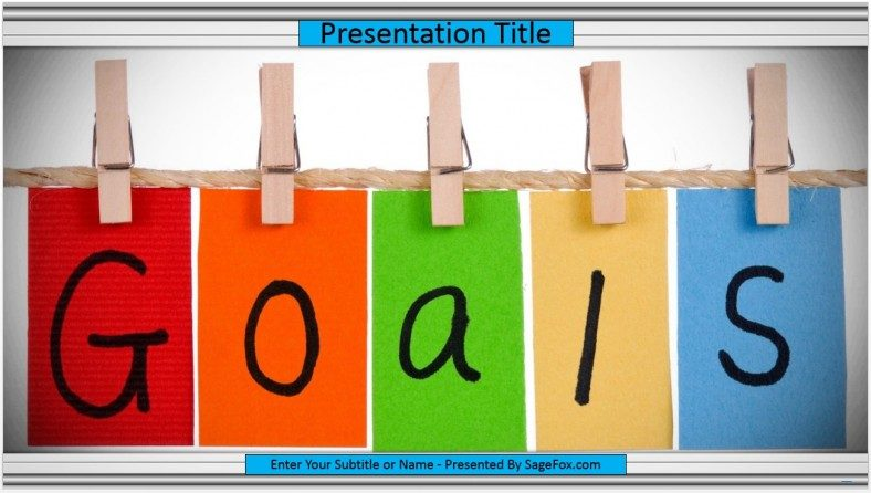 Free goals powerpoint template 9592 sagefox powerpoint templates goals powerpoint template toneelgroepblik Images
