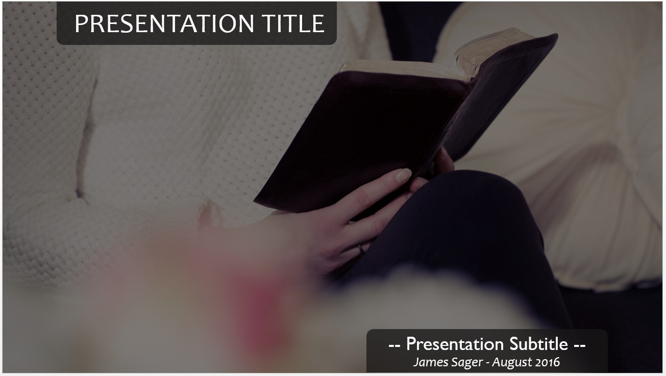 Free reading the bible powerpoint template 12992 sagefox by james sager toneelgroepblik Images