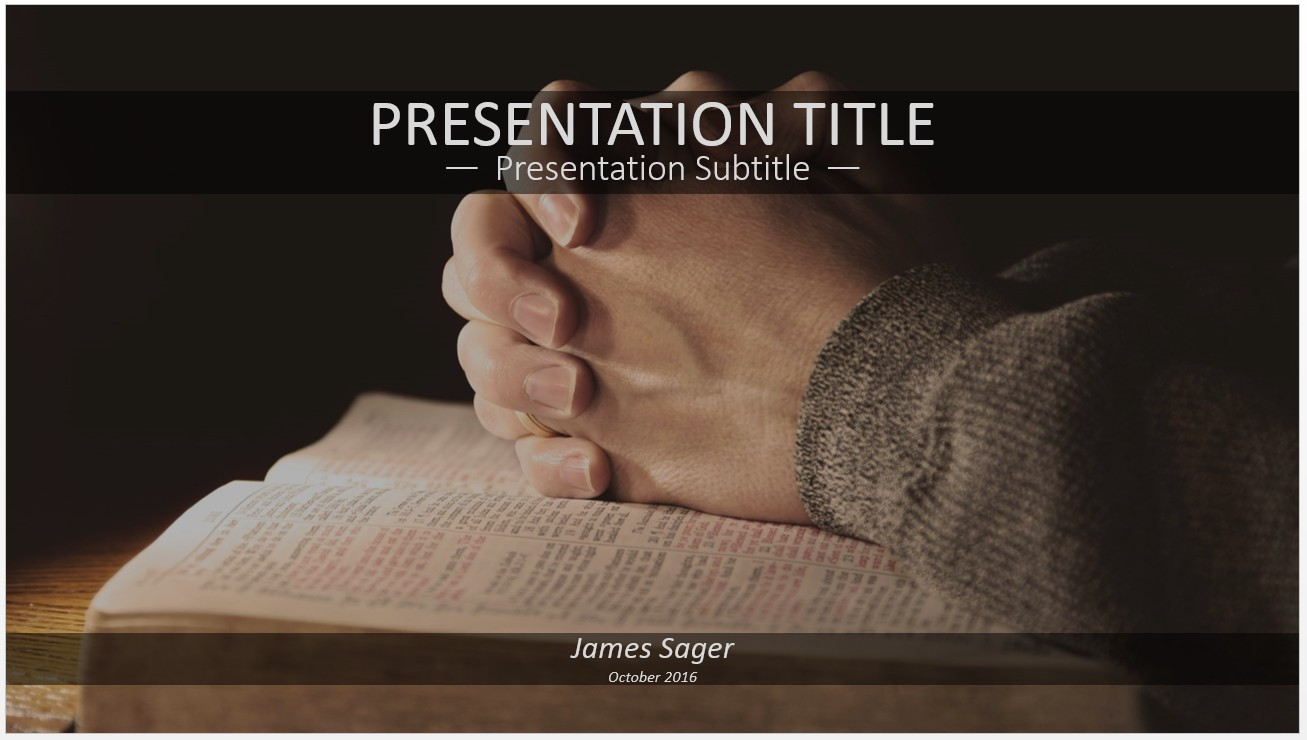 Free hands praying on bible powerpoint 12356 sagefox powerpoint please share this free powerpoint template alramifo Images