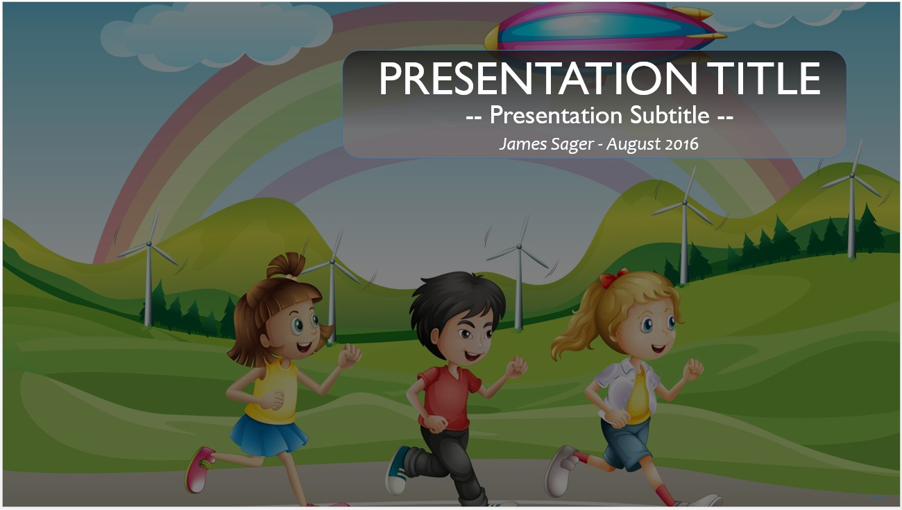 Free cartoon kids running powerpoint 12493 sagefox powerpoint by james sager toneelgroepblik Gallery