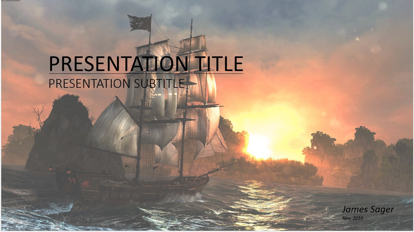 Free pirate ship powerpoint 27057 sagefox powerpoint templates toneelgroepblik Images