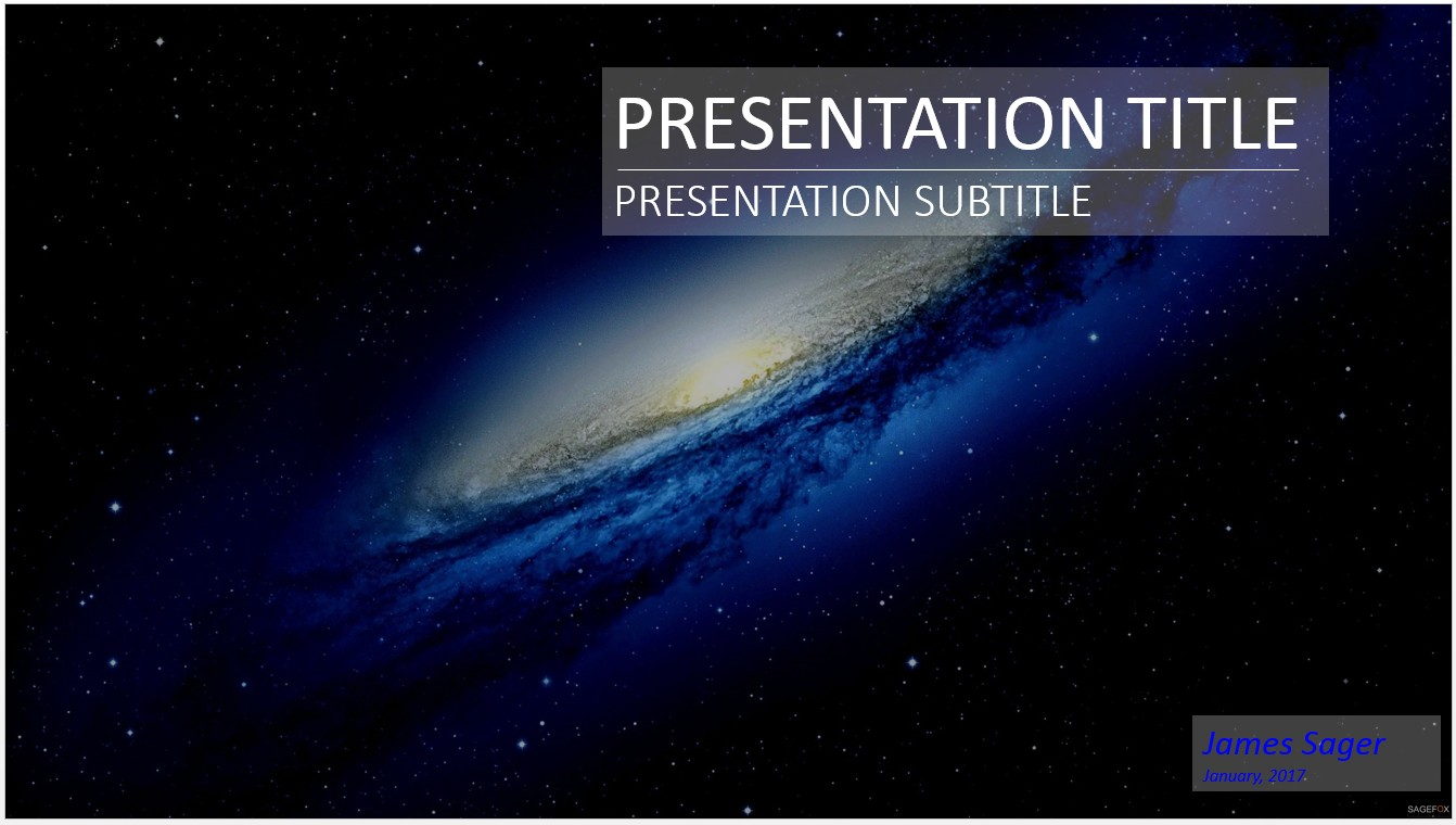Free space galaxy powerpoint 15943 sagefox powerpoint templates by james sager toneelgroepblik Image collections
