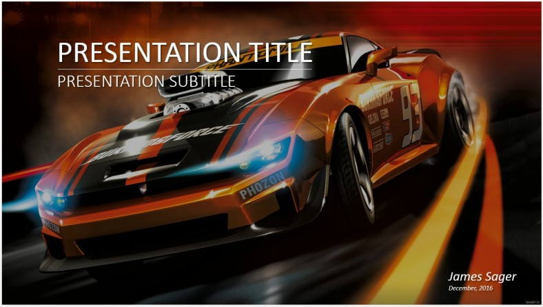 Free Race Car Powerpoint 14008 Sagefox Powerpoint Templates