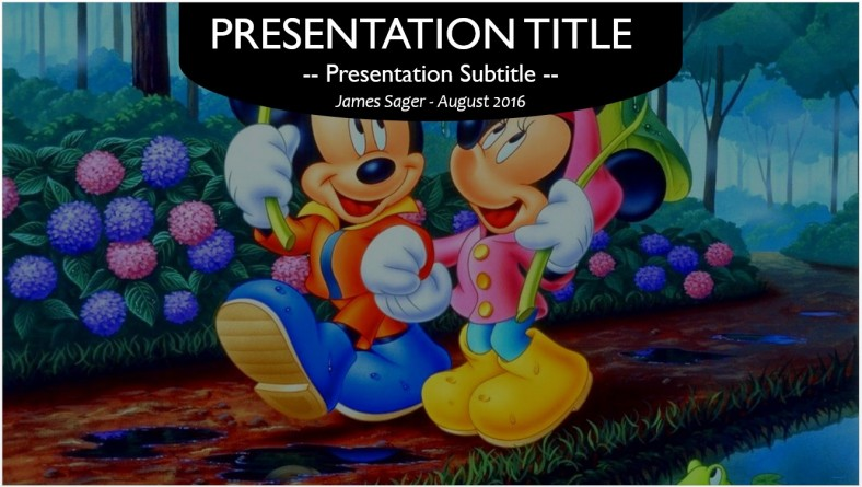 Free Mickey Mouse Powerpoint 13453 Sagefox Powerpoint Templates