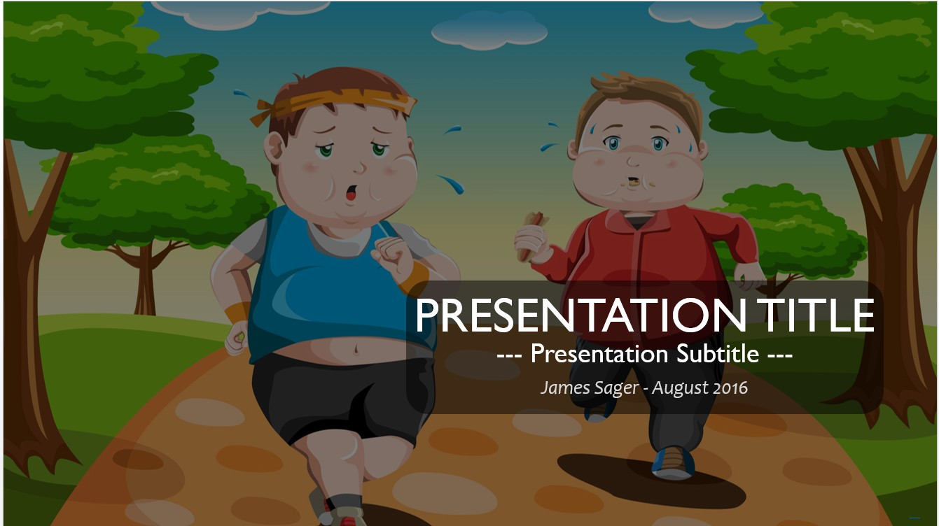 Free exercise cartoon powerpoint 17533 sagefox powerpoint templates by james sager toneelgroepblik Gallery