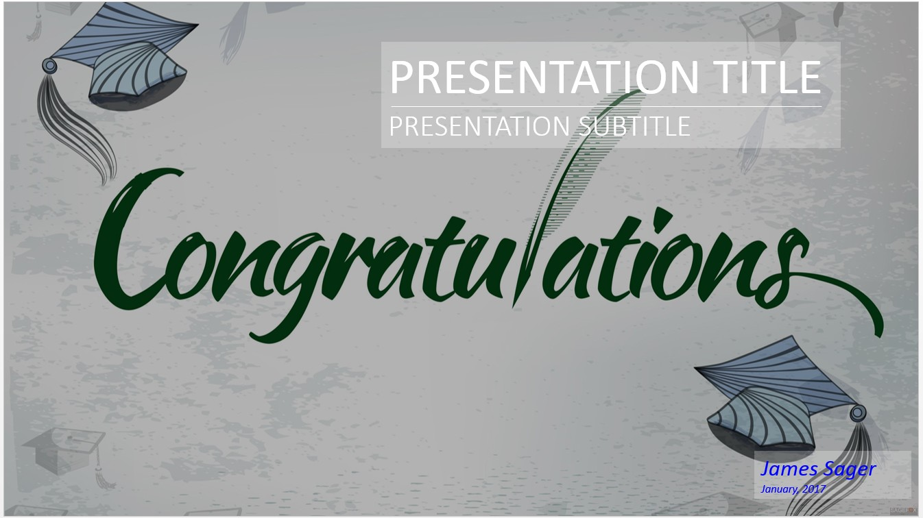Free congratulations graduation powerpoint 17664 sagefox by james sager toneelgroepblik Choice Image