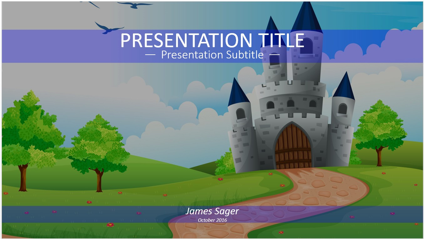 Free fairy tale castle powerpoint 15088 sagefox for Fairy tale powerpoint template free download