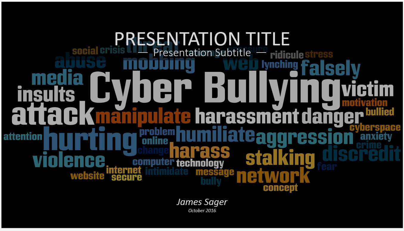 Free cyber bullying powerpoint 15093 sagefox powerpoint templates by james sager toneelgroepblik Choice Image
