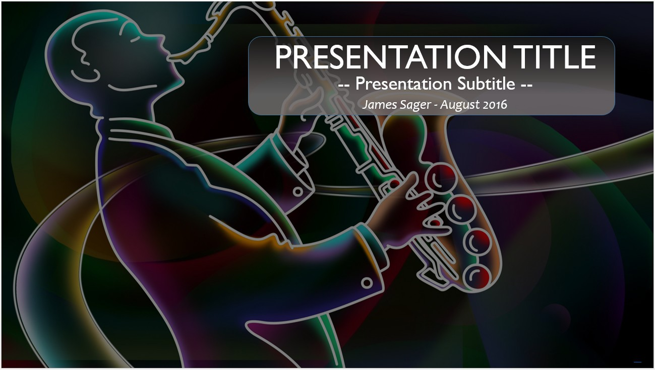 Free jazz powerpoint 12671 sagefox powerpoint templates by james sager toneelgroepblik Choice Image
